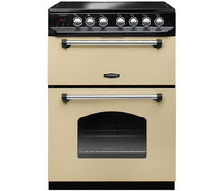 RANGEMASTER Classic 60 Electric Ceramic Cooker - Cream & Chrome Best Price, Cheapest Prices