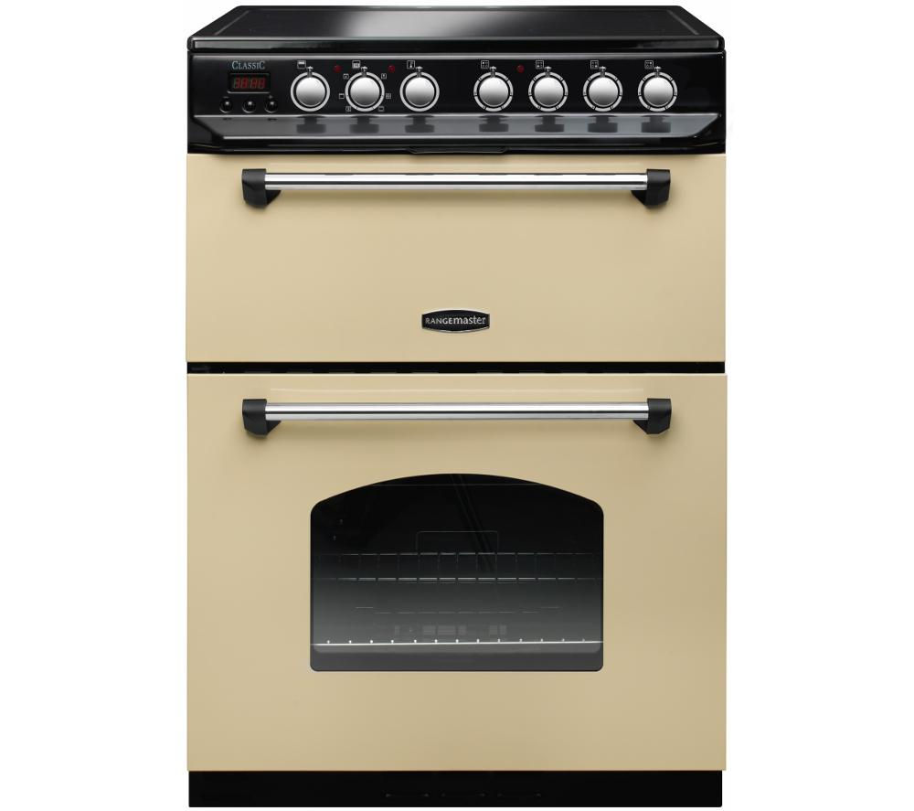Rangemaster Clic 60 Electric Ceramic Cooker Cream Chrome Free Delivery Currys