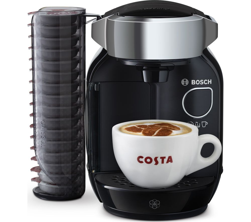 buy tassimo by bosch caddy coffee machine black free delivery currys. Black Bedroom Furniture Sets. Home Design Ideas