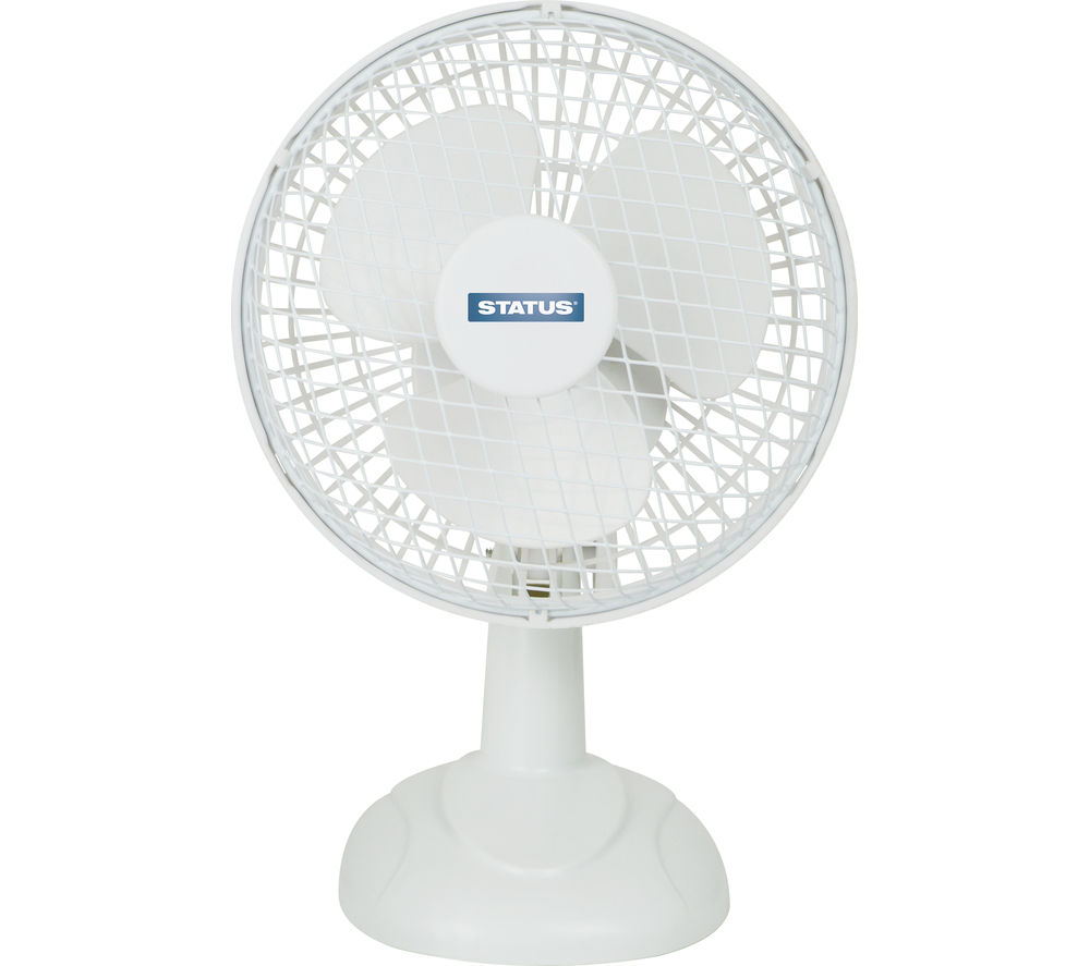 STATUS 6 inch Desk Fan - White
