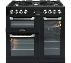 LEISURE Cuisinemaster CS90F530K Dual Fuel Range Cooker - Black & Chrome Best Price, Cheapest Prices