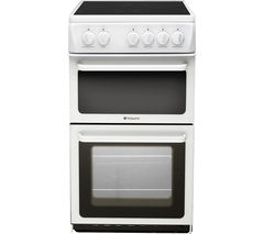 HOTPOINT HAE51PS Electric Ceramic Cooker - White