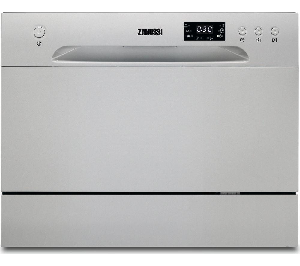 ZANUSSI ZDM17301SA Compact Dishwasher - Silver