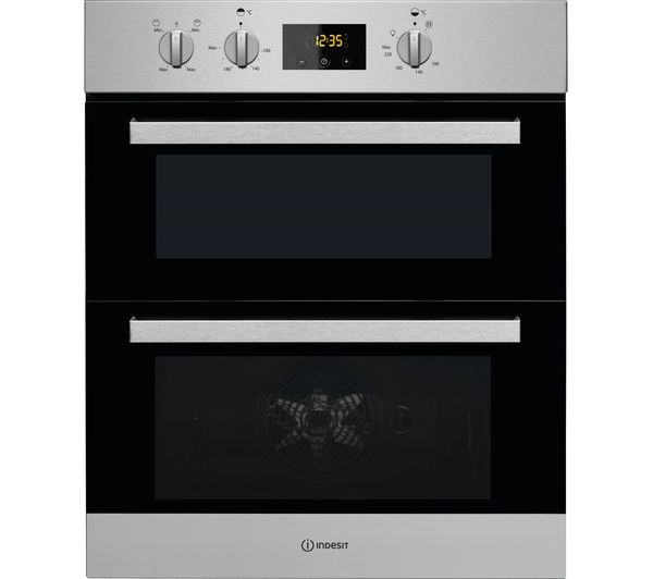 Image of INDESIT Aria IDU 6340 IX Electric Built-under Double Oven - Stainless Steel
