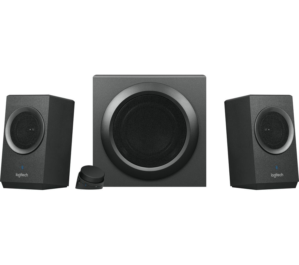 LOGITECH Z337 2.1 Wireless PC Speakers - Black, Black