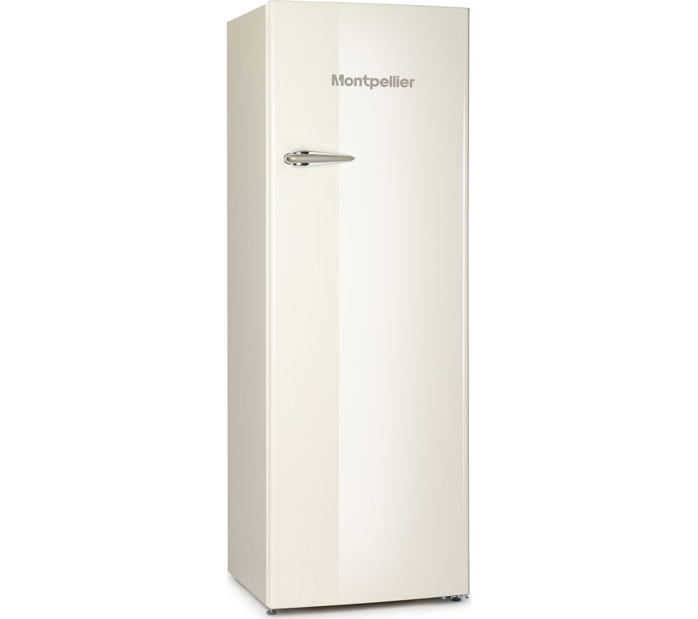MONTPELLIER MAB340C Tall Fridge – Cream, Cream