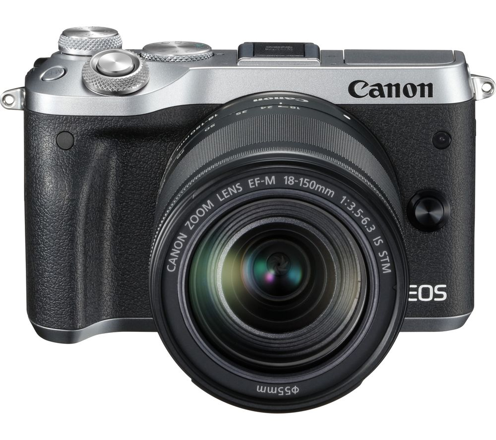 CANON EOS M6 Mirrorless Camera with 18-150 mm f/3.5-6.3 Lens - Silver