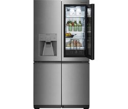 LG SIGNATURE Instaview LSR100 Smart 60/40 Fridge Freezer - Stainless Steel