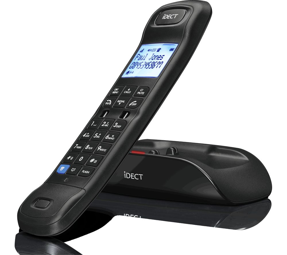 Image of I-DECT Loop Lite Plus Call Blocker Cordless Phone with Answering Machine - Twin Handset, Black