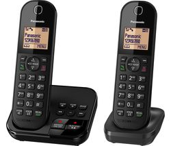 PANASONIC KX-TGC422EB Cordless Phone with Answering Machine - Twin Handsets