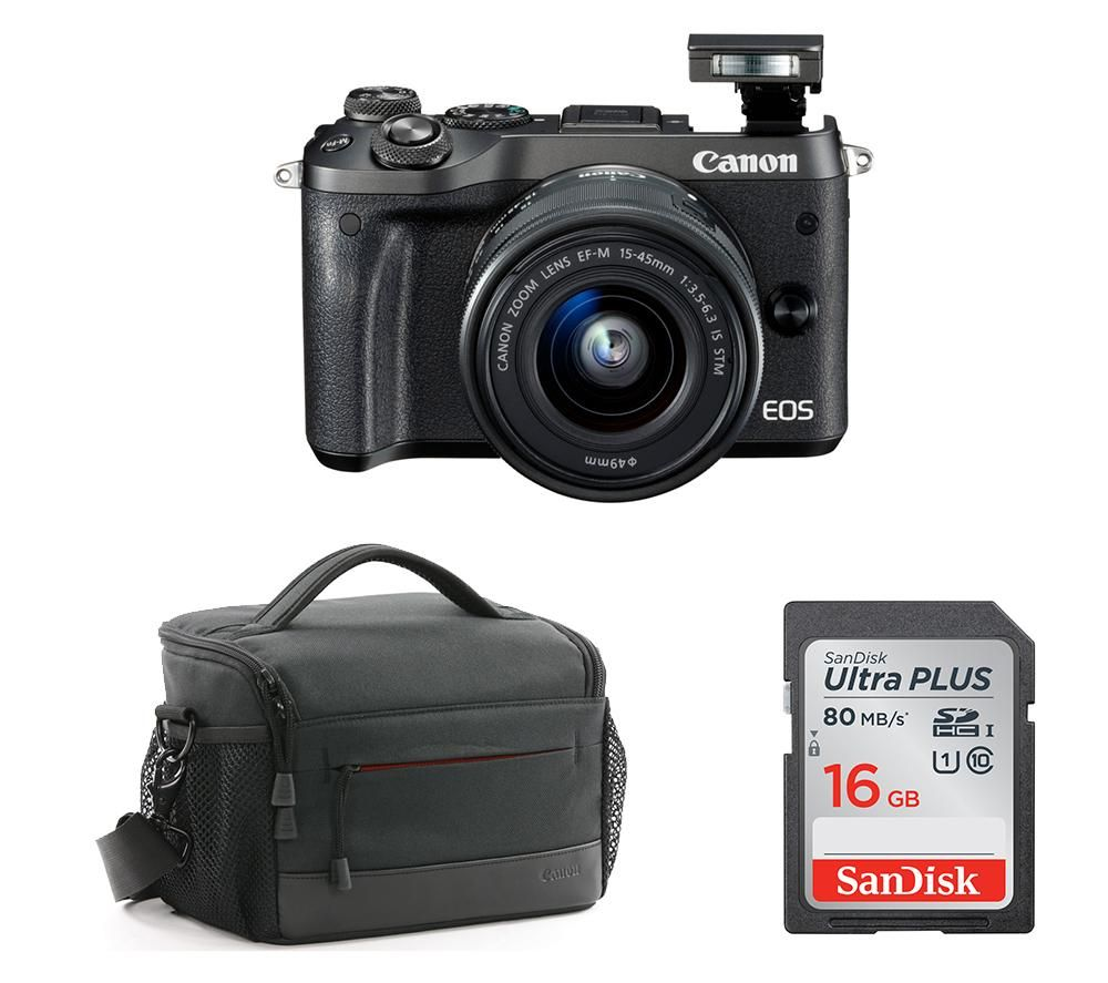 Canon EOS M6 Mirrorless Camera with Accessory Bundle