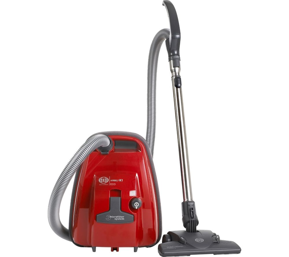 SEBO Airbelt K1 ePower Cylinder Vacuum Cleaner - Red