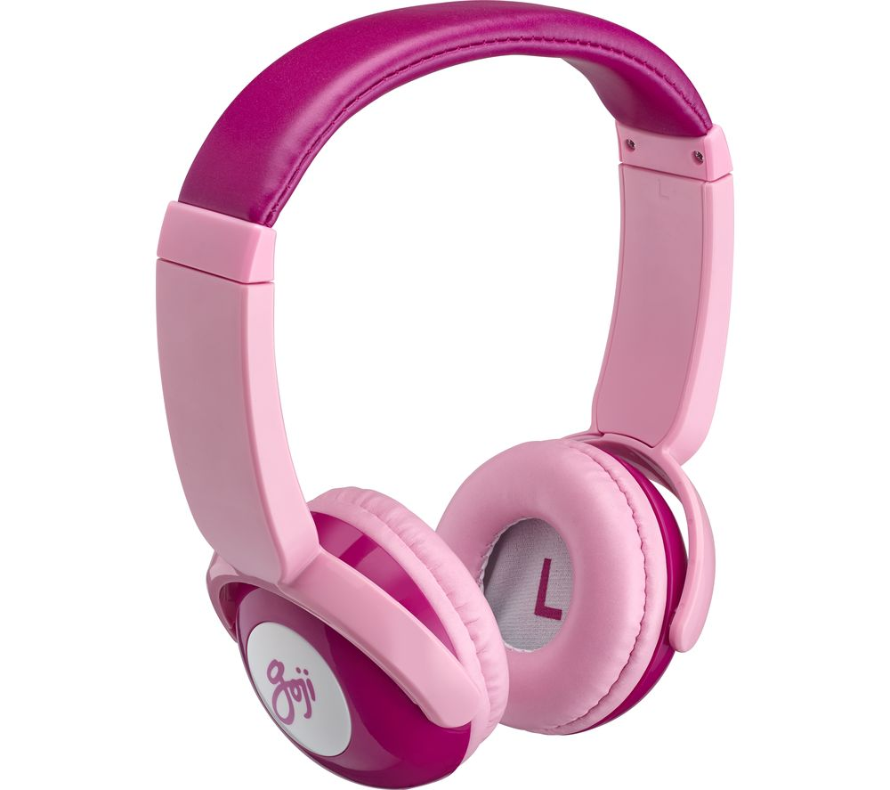 GOJI GKIDBTP18 Wireless Bluetooth Kids Headphones - Pink