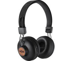 Image of HOUSE OF MARLEY Positive Vibration 2 Wireless Bluetooth Headphones - Black
