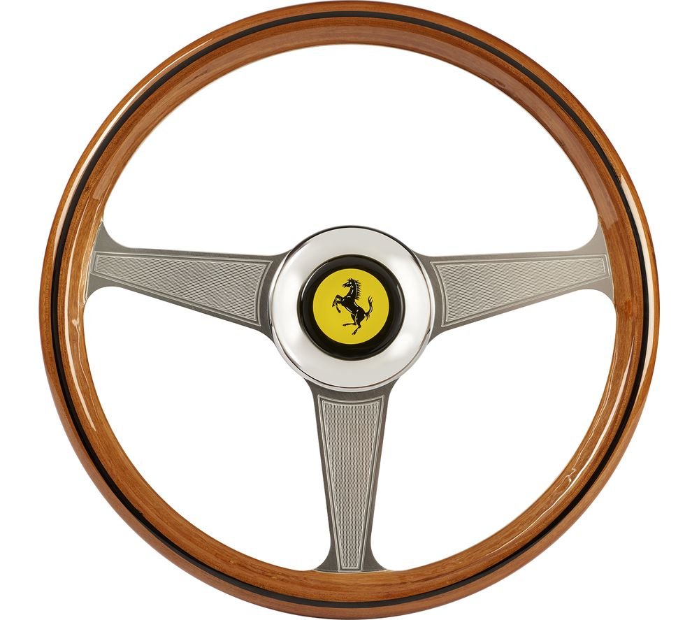 THRUSTMASTER Ferarri 250 GTO Racing Wheel Add On - Silver & Brown, Silver