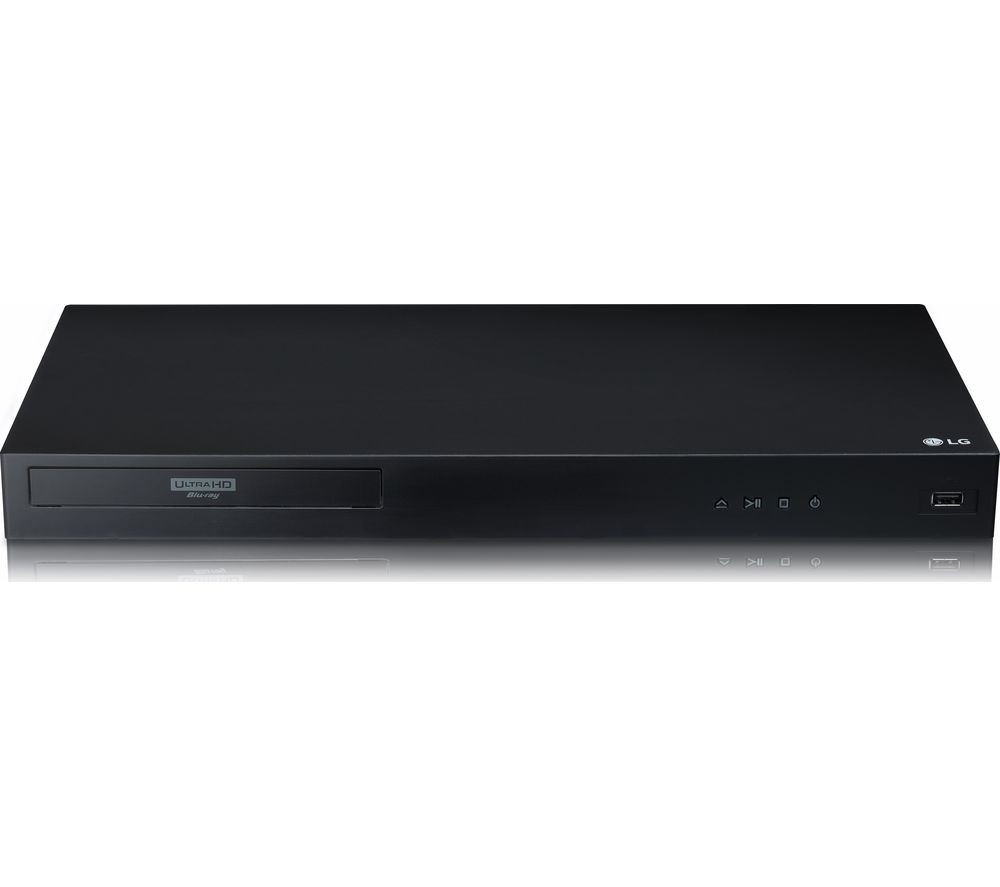 LG UBK80 4K Ultra HD HDR Blu-ray & DVD Player, Black