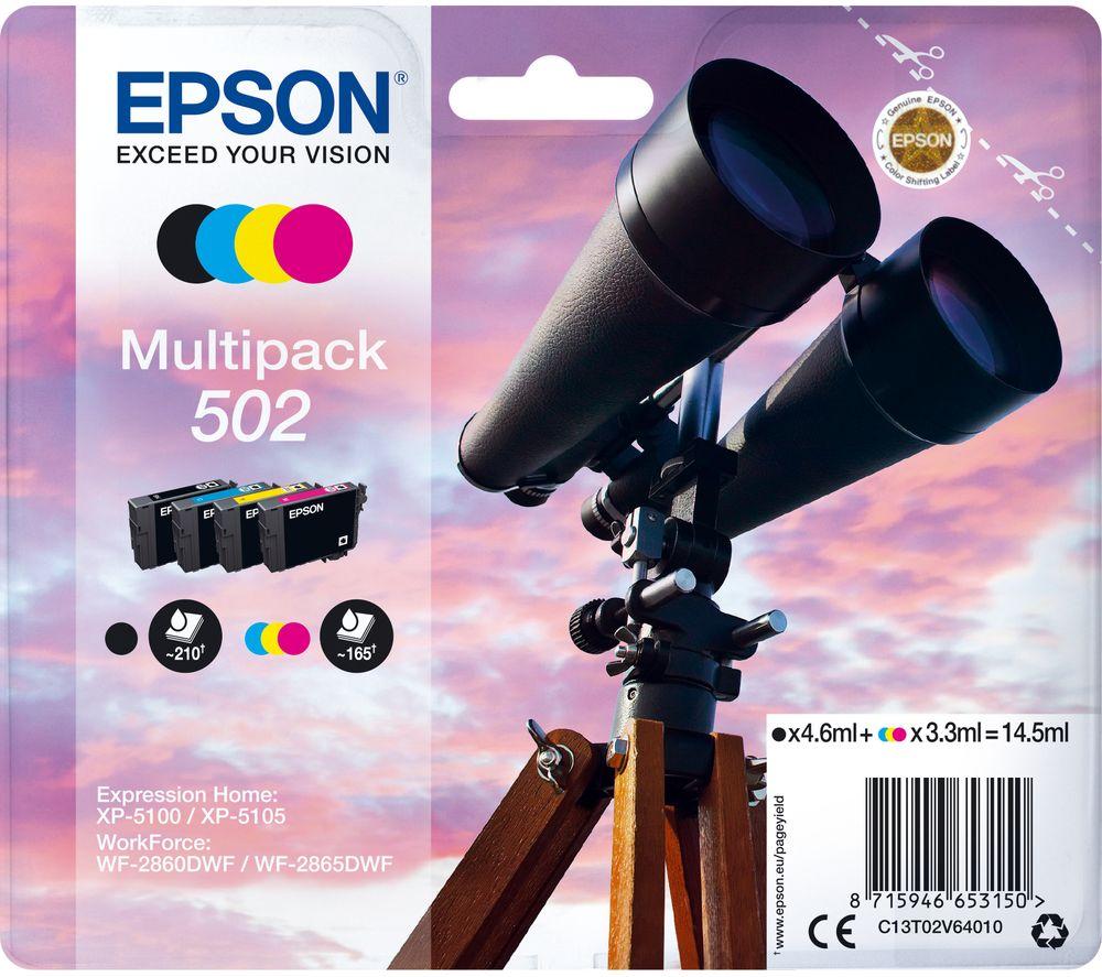 EPSON Binoculars 502 Cyan, Magenta, Yellow & Black Ink Cartridges - Multipack