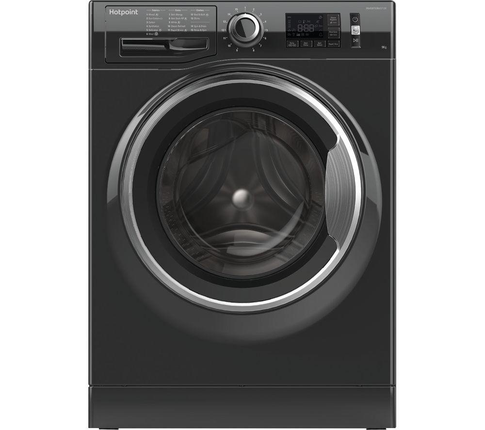 HOTPOINT ActiveCare NM11 946 BC A UK 9 kg 1400 Spin Washing Machine - Black, Black