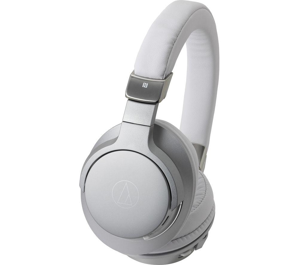 AUDIO TECHNICA ATH-AR5BT Wireless Bluetooth Headphones - Silver, Silver