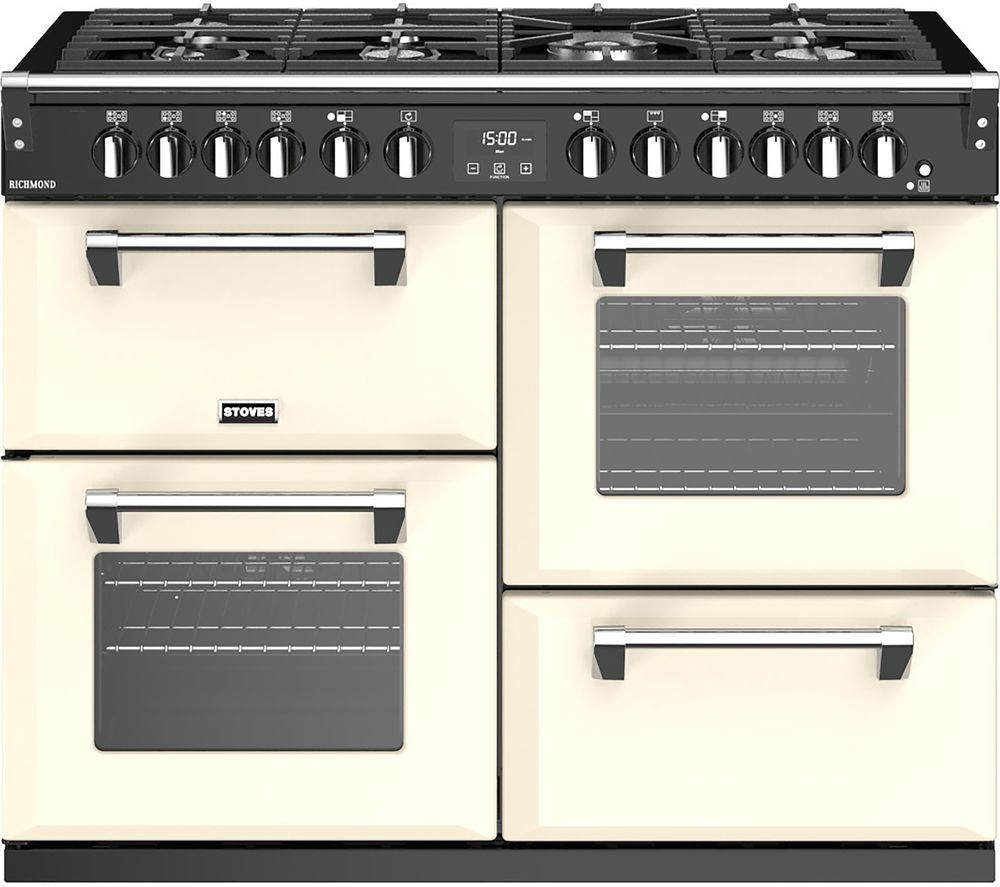 STOVES Richmond S1100DF 110 cm Dual Fuel Range Cooker - Cream