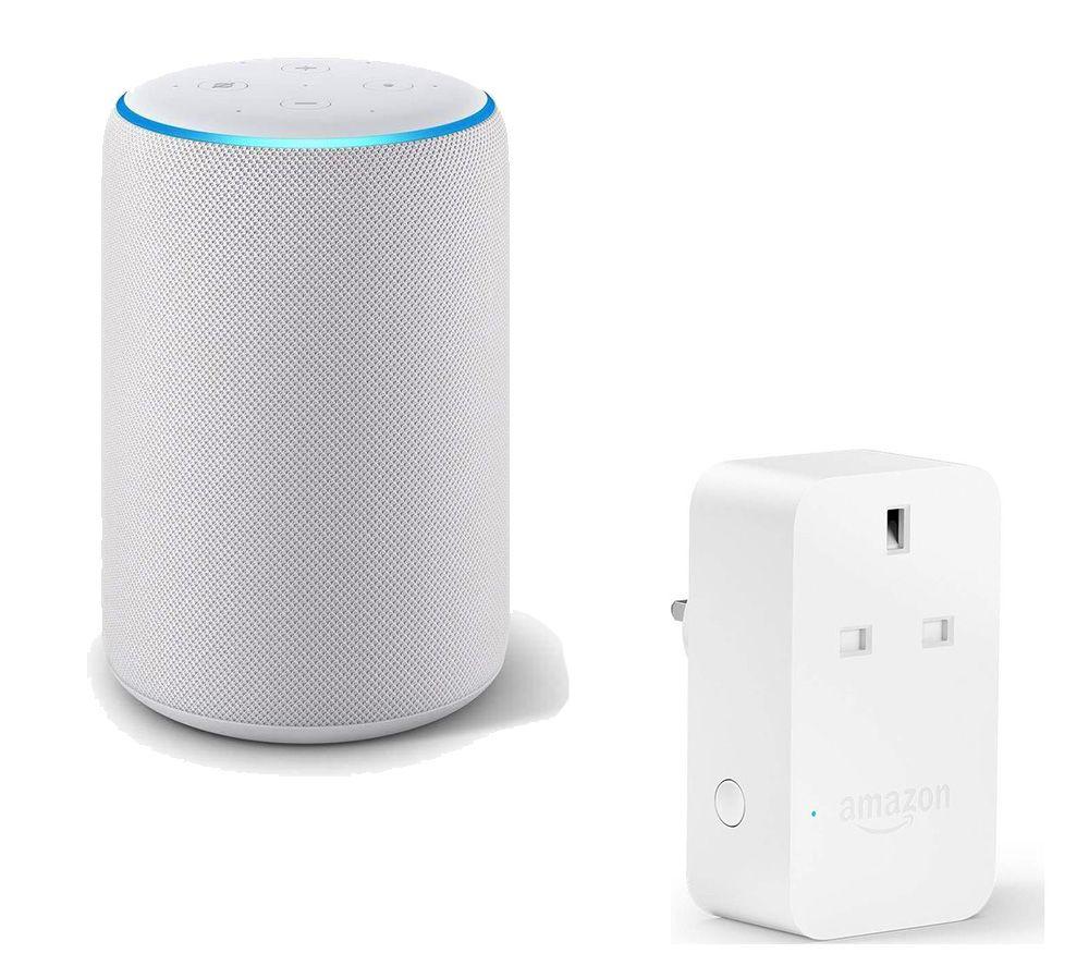 AMAZON Echo Plus (2018) & Smart Plug Bundle – White, White
