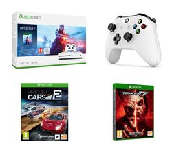 MICROSOFT Xbox One S, Battlefield V, Project Cars 2, Tekken 7 & Wireless Controller Bundle