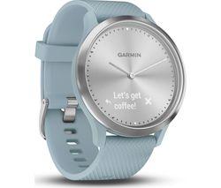 GARMIN VIVOMOVE HR Sport Hybrid Smartwatch - Seafoam, Small/Medium