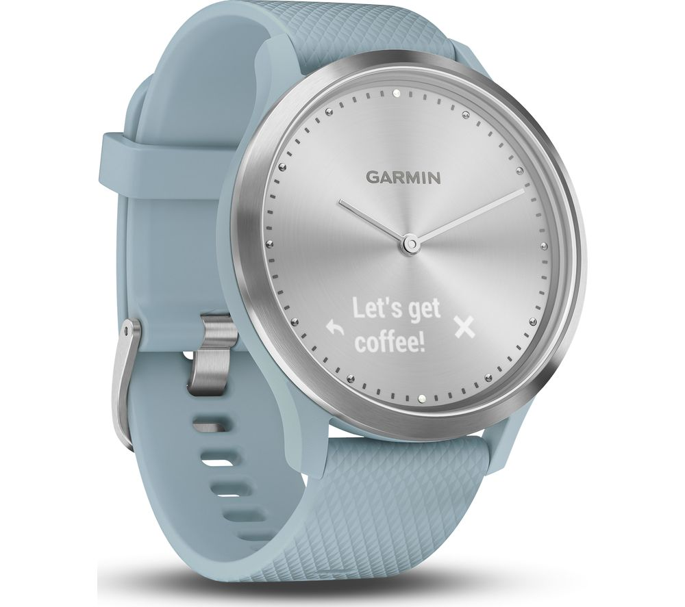 GARMIN VIVOMOVE HR Sport Hybrid Smartwatch - Seafoam, Small/Medium