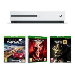 MICROSOFT Xbox One S, Fallout 76, Project Cars 2 & Tekken 7 Bundle