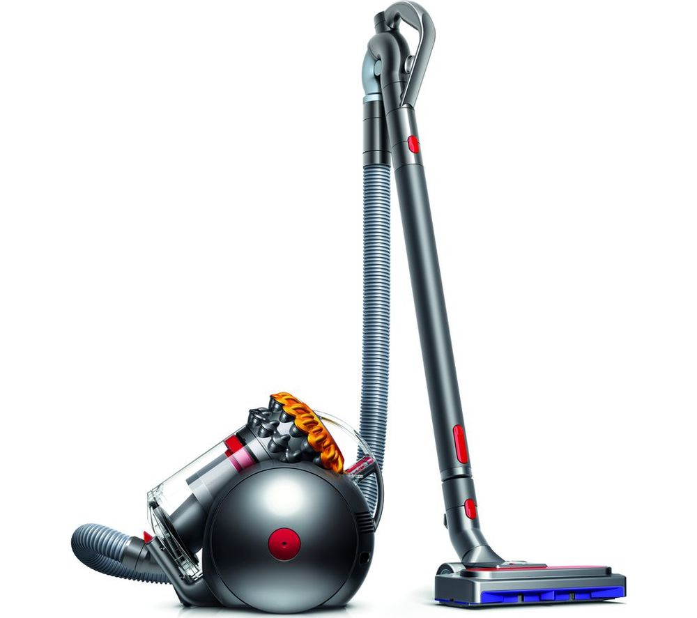 Image of DYSON Big Ball Multifloor 2 Cylinder Bagless Vacuum Cleaner - Grey & Yellow, Grey