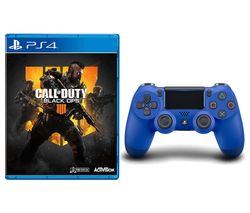 PS4 Call of Duty: Black Ops 4 & DualShock 4 V2 Wireless Controller Bundle - Blue
