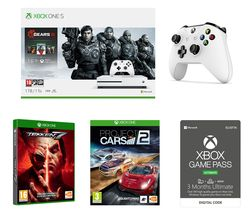 MICROSOFT Xbox One S Gears 5 Special Edition with Tekken 7, Project Cars 2, Wireless Controller and Game Pass Bundle - 1 TB