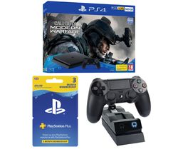 SONY PlayStation 4 with Call of Duty: Modern Warfare, Twin Docking Station & PlayStation Plus 3 Month Subscription Bundle