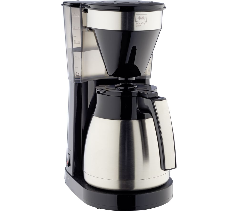 MELLITA Easy Top Therm II Filter Coffee Machine - Black & Stainless Steel, Stainless Steel