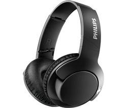 PHILIPS BASS+ SHB3175BK Wireless Bluetooth Headphones - Black