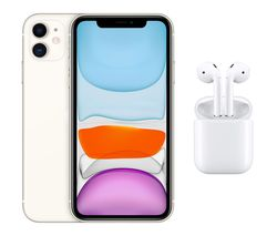 iPhone 11 & AirPods with Charging Case (2nd generation) Bundle - 64 GB, White