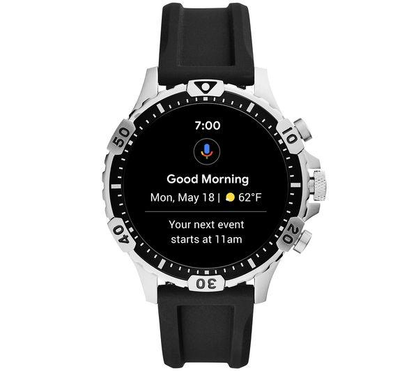 Image of FOSSIL Garrett HR FTW4041 Smartwatch - Black, Silicone, 46 mm