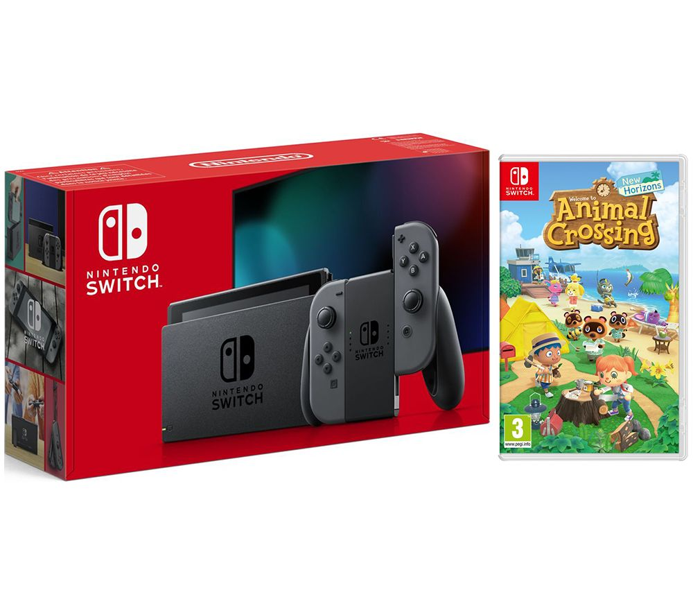 NINTENDO Switch Grey & Animal Crossing: New Horizons Bundle