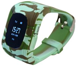 Intigo P1 Kids Smartwatch - Jungle Camouflage, Rubber Strap
