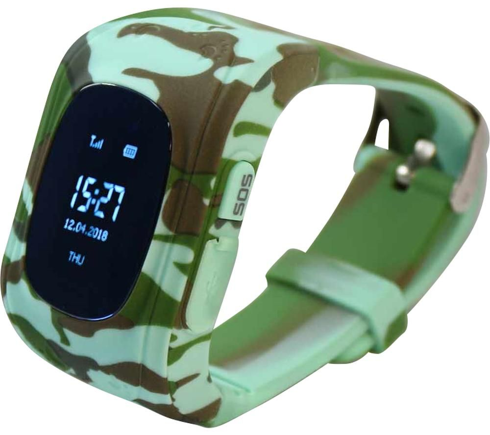 PIN IT Intigo P1 Kids Smartwatch - Jungle Camouflage, Rubber Strap