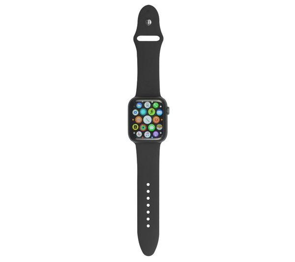 XQISIT Apple Watch 38 / 40 mm Silicone Strap - Black, Small