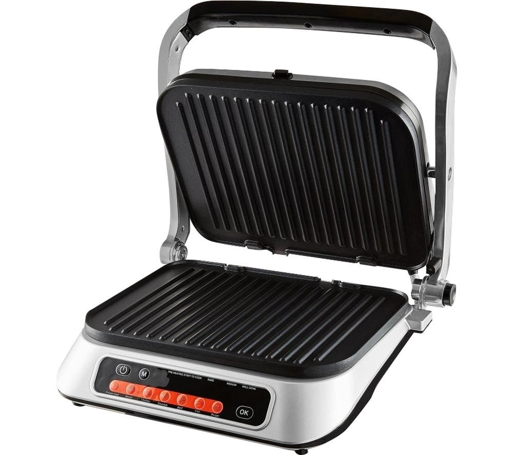 Image of TOWER T27023 2100 W Grill - Silver & Black, Silver