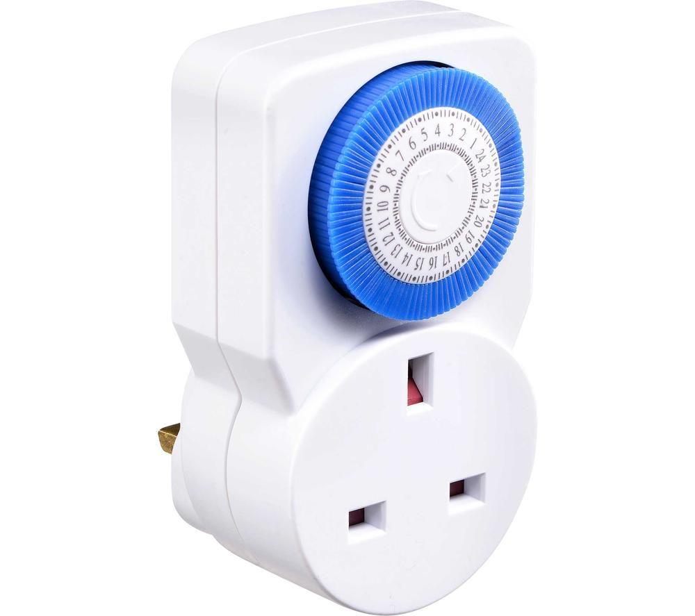 MASTERPLUG TMS24/3-MP Daily Mechanical Segment Timer Plug - Pack of 3
