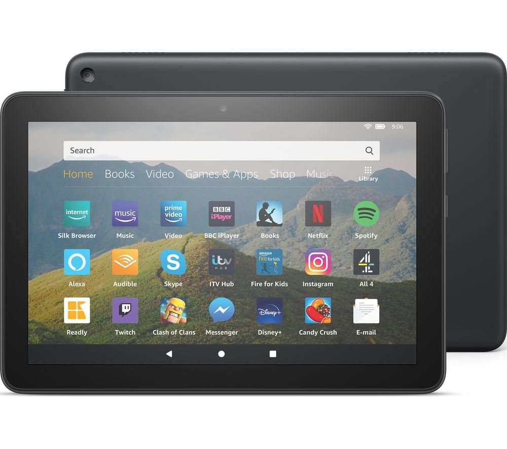 Image of AMAZON Fire HD 8 Tablet (2020) - 64 GB, Black, Black