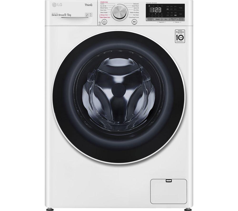 LG AI DD V6 FWV685WSE WiFi-enabled 8 kg Washer Dryer - White