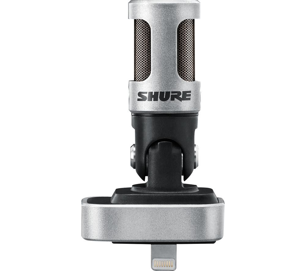 SHURE Motiv MV88 Microphone - Black & Silver
