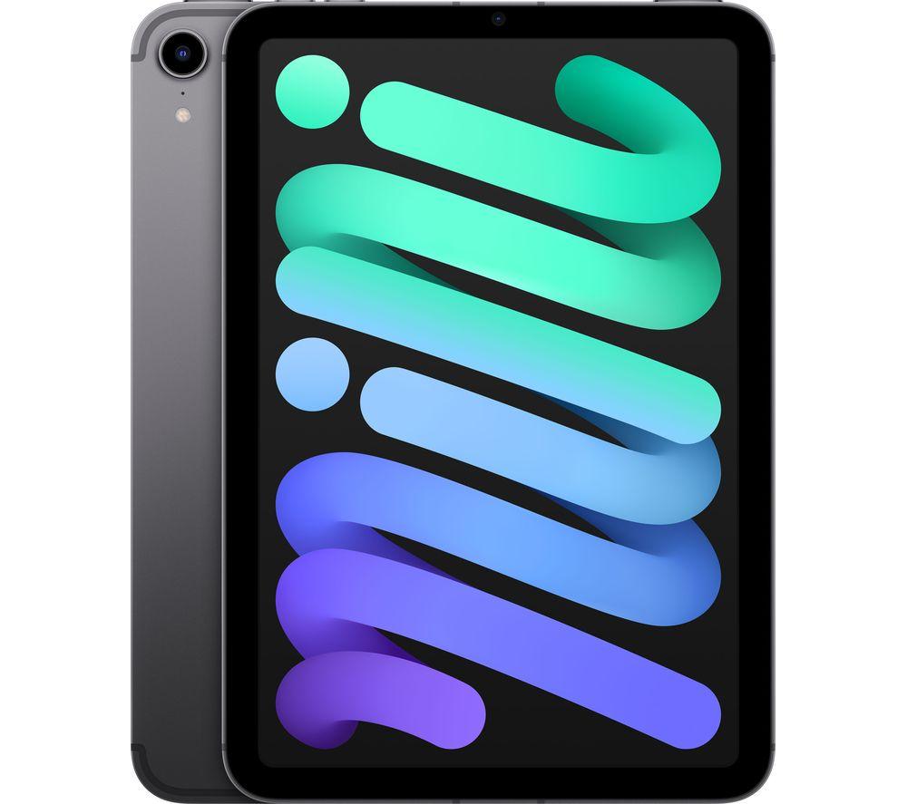 "Image of APPLE 8.3"" iPad mini Cellular (2021) - 256 GB, Space Grey, Grey"