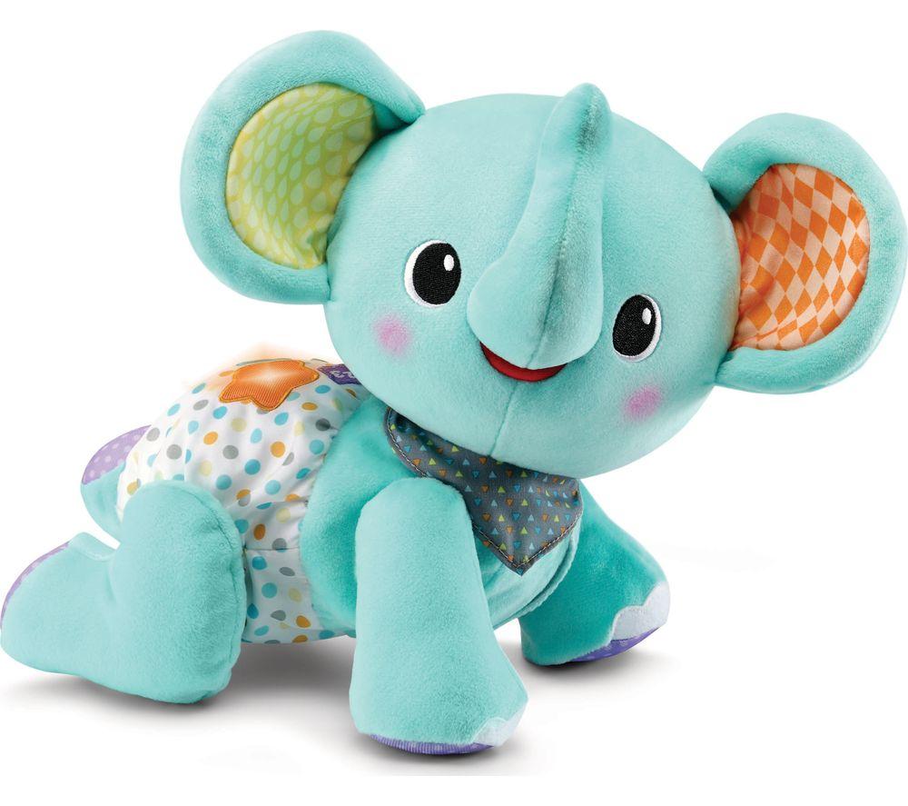 VTECH Crawl with Me Elephant - Blue, Blue
