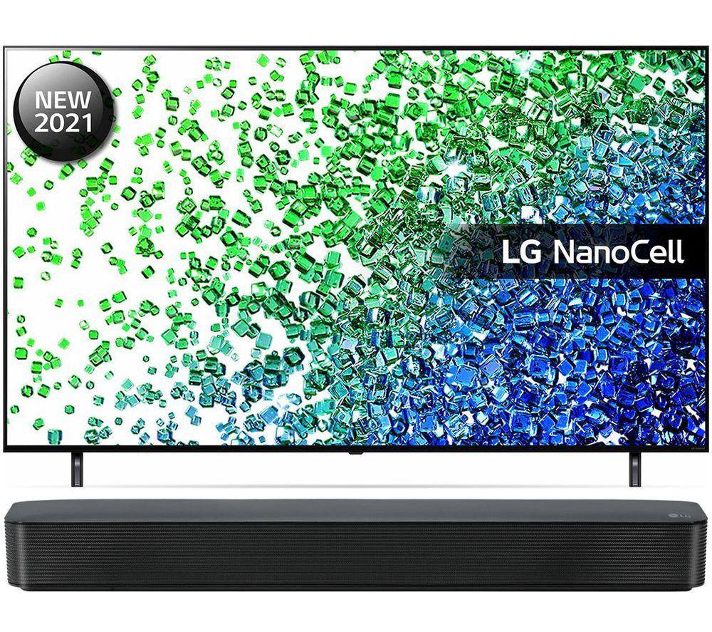 50 LG 50NANO806PA  Smart 4K Ultra HD HDR LED TV & SK1 2.0 Compact Sound Bar Bundle