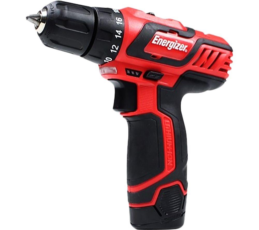 ENERGIZER EZPV12VUK Cordless Drill Driver - Red, Red